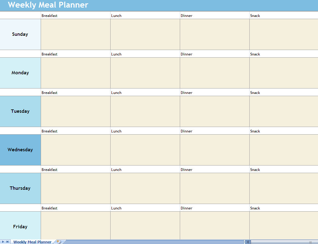 Diet Plan Calendar Plus belle la vie PBLV – Diet Menu Template